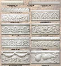 Decorative Tile Strips Seattle Pottery Supply ECatalog A60Specialty Trim Tiles 1