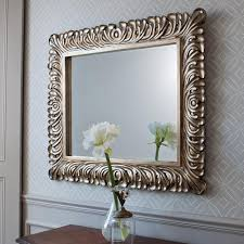 square decorative wall mirrors for living room
