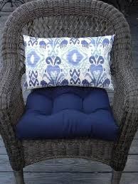 navy blue cushions wicker chair cushions