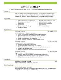 Resume Words For Mechanic Therpgmovie