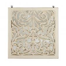 damask pattern wall art made of glass and wood in cream finish  on damask wood wall art with buy wall art online in india the yellow door store
