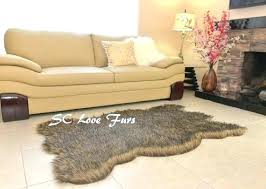 animal shaped rug animal shape rug designers rugs faux fur gray coyote patterns animal bearskin shape plush lodge cabin animal shape rug