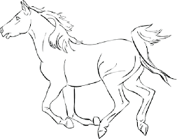 Horse Drawing Coloring Pages Horse Coloring Pages Mustang Color Page