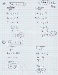 3 classwork hw find the x y intercepts of the other 4 functions from practice b