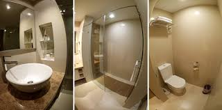 the bathroom was really spacious and clean although there wasn t a bathtub the shower was great with powerful water flow and adjusting the temperature of