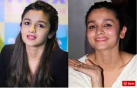 in the same manner she looked beautiful without makeup in her film highway last but not least her dimples which increases her beauty