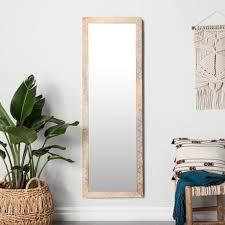 Image West Elm Target Carved Dot Natural Wood Floor Mirror Opalhouse Target