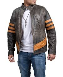 wolverine special edition distress leather jacket