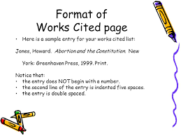 Works Cited Page What Resources Have You Used What Is A
