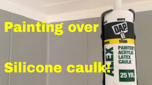 Best Caulk For Trim How To Paint Over Silicone Caulk Youtube