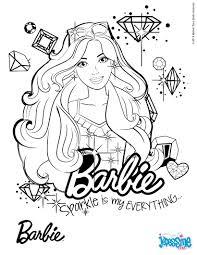 Portrait De Barbie Colorier Imprimer Gratuitement Ou Colorier