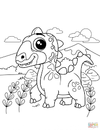 Coloring Books Triceratops Coloring Page