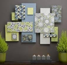 stacked fabric canvases but i saw this done with foam board and scrapbook paper attached art ideasdecor ideascollage ideasdiy  on foam board diy wall art with stacked fabric canvases but i saw this done with foam board and
