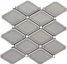 dove gray diamond le long octagon glazed premium mosaic tile