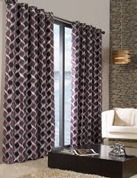 stylish trendy ringtop eyelet lined circle pattern curtains aubergine purple colour