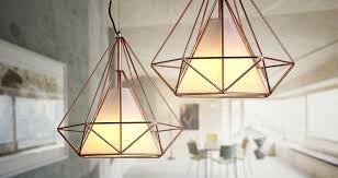 copper pendant light copper diamond wire cage pendant light white copper pendant light shade