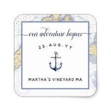 Marriage Gift Chart Authentic Nautical Chart Anchor Wedding Event Square