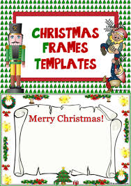 Christmas Photo Frames Templates Free Christmas Frames Writing Display Templates