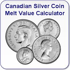 Canadian Silver Coin Melt Values Single Coins