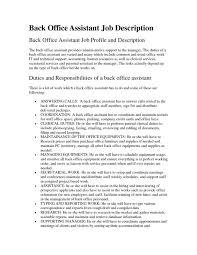 Office Assistant Resume Description Office Assistant Job Description