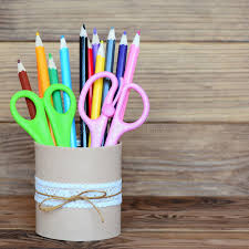 decorative office supplies. Brilliant Office Decorative Office Supplies Download Colored Pencils And Scissors In  A Tin Can Recycled In Decorative Office Supplies L