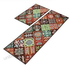 2 piece non slip kitchen mat floor mats mordern doormat runner rug set absorbent bath mat