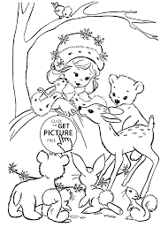 Winter Girl Coloring Pages For Kids Printable Free Coloing 4kidscom