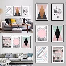 New Home Decor Fashion Geometric <b>Figure</b> Frameless <b>Paintings</b> ...
