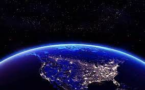 Night View From Space 4k Wallpaper ...