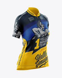 Wearing a cycling jersey cycling make a more comfortable ride, due to its material, the fit and the features. Women S Cycling Jersey Mockup Half Side View In Apparel Mockups On Yellow Images Object Mockups In 2020 Women S Cycling Jersey Cycling Women Clothing Mockup