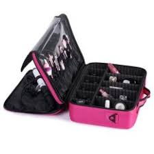 professional large beauty make up cosmetic bag case toiletry storage organizer pink
