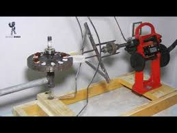 how to make ceiling fan coil winding machine home made winding machine part 1 you