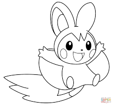 Small Picture Emolga Pokemon coloring page Free Printable Coloring Pages
