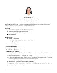sample career objectives for resume  resume for study