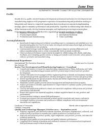 40 Manufacturing Engineer Resume Qtickles Delectable Manufacturing Engineer Resume