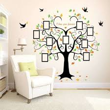 childrens bedroom wall stickers removable unique family tree wall decal 9 frames l and stick