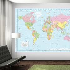 world map wall mural 2017 grasscloth wallpaper throughout within at world map wall mural