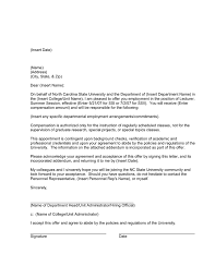 Draft Sample Appointment Letter In Word And Pdf Formats