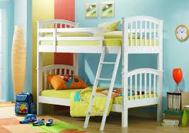 Impressive Kids Bedroom Design With Solid Pine Wood Bunk Beds In