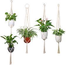 Different Designs Of Flower Pots Luxbon Macrame Plant Hangers Handmade Indoor Wall Hanging