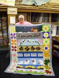 Kansas row. | Row by Row Experience 2014 | Pinterest & Susie Kremer of Tulsa, OK for claiming the prize at Stitches Quilt Shop! Adamdwight.com
