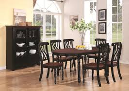 glass kitchen table sets decor color ideas for gorgeous addison black and cherry wood dining table