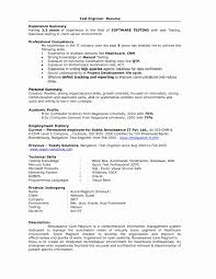 Objective In Resume For Software Engineer Experienced Test Engineer Resume Objective Lovely Resume Samples Experienced