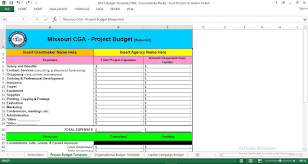 budget templets project budget template excel engineering management