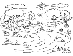 Small Picture River Landscape coloring page Free Printable Coloring Pages