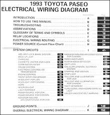 1993 toyota pickup wiring diagram 1993 image 1993 toyota paseo electrical wiring diagram manual 93 new original on 1993 toyota pickup wiring diagram