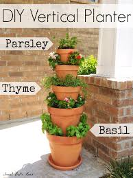diy vertical planter great option for an herb garden if low on space