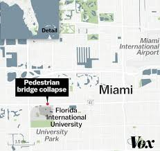「pedestrians bridge collapse in florida」の画像検索結果