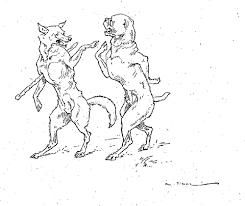 Dessin Le Loup Et Le Chien L