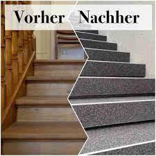 So machen sie es richtig. Holztreppe Renovieren Mit Steinteppich Regionale Steinteppich Anbieter
